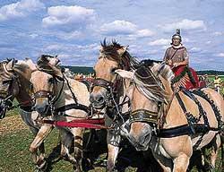 Altmühltal: Römisches Wagenrennen