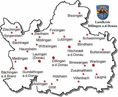 guide to bavaria landkreis dillingen. Black Bedroom Furniture Sets. Home Design Ideas