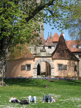 Burgtor in Rothenburg ob der Tauber