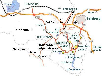 Berchtesgadener Land Reise: Karte