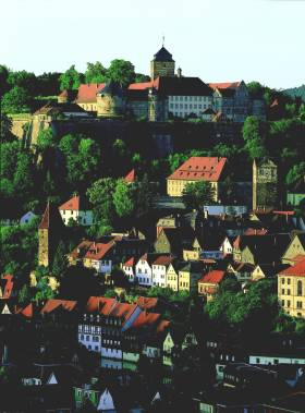 Townscape in the Franconian Forest
