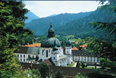 Ettal Monastery in the Ammergau Alps