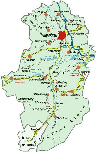 Guide To Bavaria Landkreis Oberallg 228 U