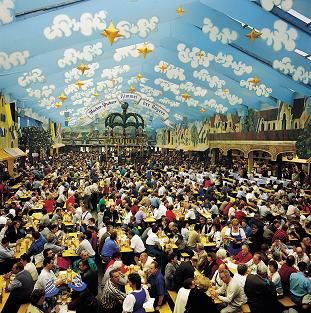 Beer tent on the Oktoberfest