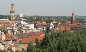 Panorama Fürth with city hall